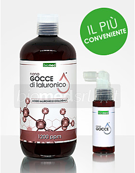 Nano gocce di Acido ialuronico colloidale puro - 500ml - 1200PPM