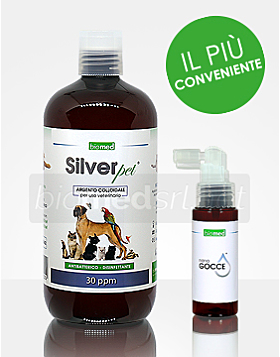 SilverPet argento colloidale puro per uso Veterinario - 500ml - 30PPM
